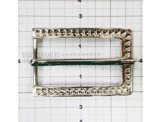 Пряжка металлическая серебро 3,0