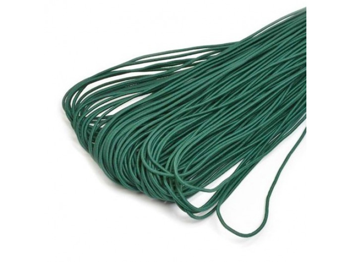 Резинка шляпная темно-зеленая 1,5 мм