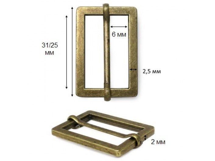 Рамка-регулятор 2,5 см металлическая антик