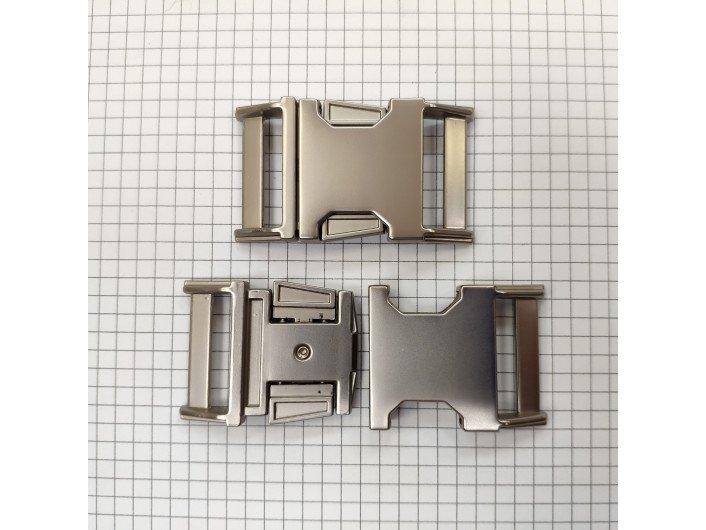 Фастекс металл 30 мм. МАТ. СЕРЕБРО