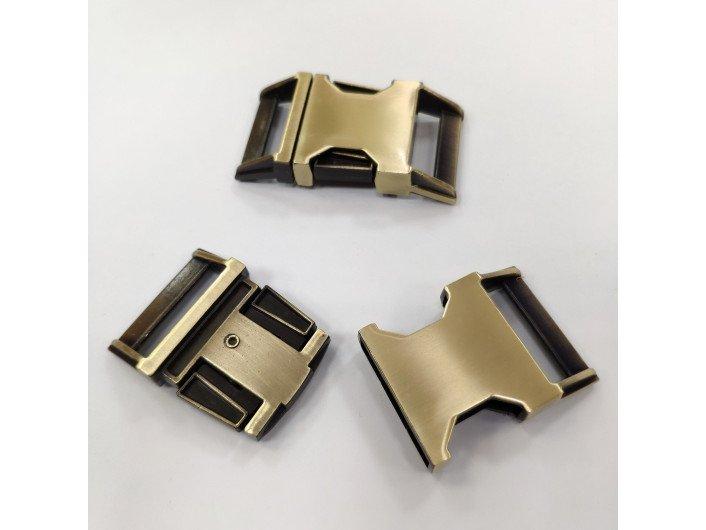 Фастекс металл 25 мм. коричневый (antique)