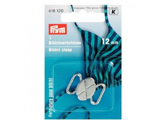 Застежка для купальника серебро 12 мм  PRYM