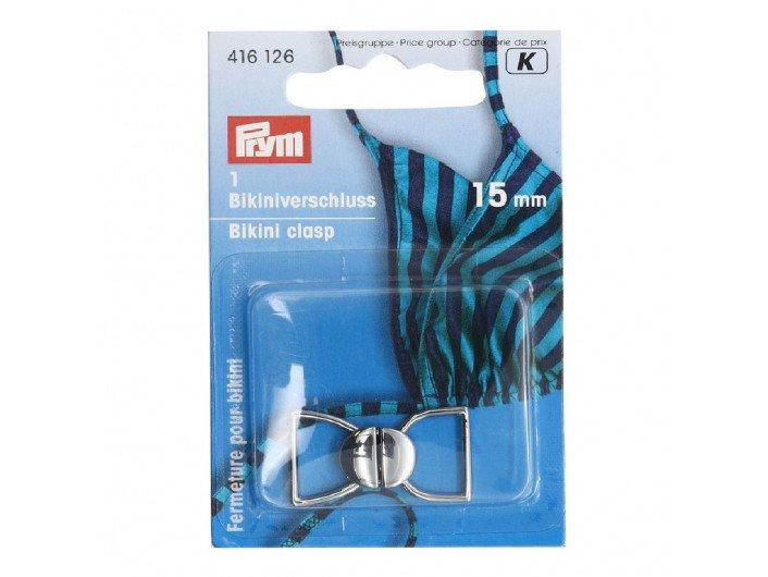 Застежка для купальника серебро 15 мм  PRYM