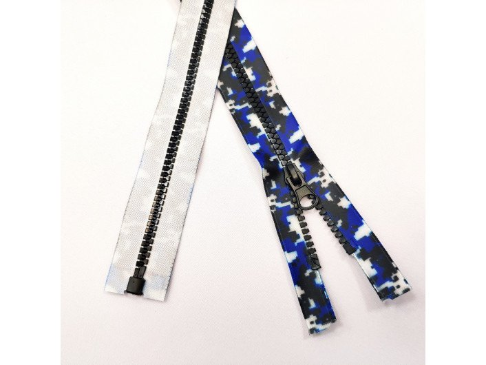 Молния водонепроницаемая разъёмная  №5 70 см. ТРК синий камуфляж