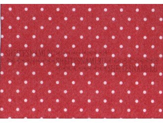 Фетр 1 мм. Грязно-розовый в горошек