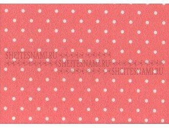 Фетр 1 мм. Розовый в горошек