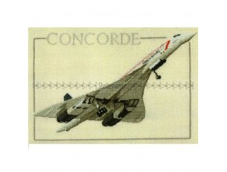Вышивка Самолет CONCORDE 23*15