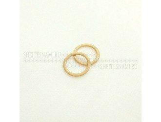 Кольцо БЕЖЕВОЕ метал. 10 мм.