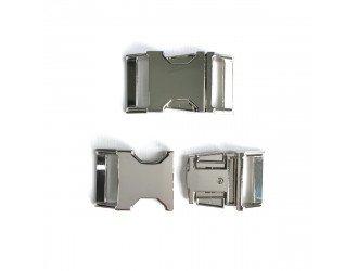 Фастекс металл 25 мм. СЕРЕБРО