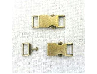 Фастекс металл 10 мм. БРОНЗА
