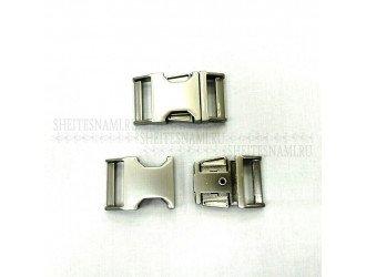 Фастекс металл 15 мм. МАТ.СЕРЕБРО