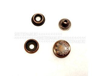 Кнопки кольцевые 15 мм. МЕДЬ