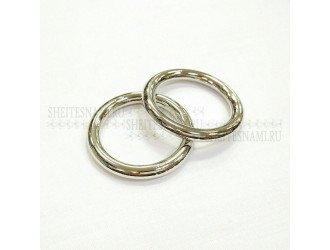 Кольцо метал. литое 25 мм СЕРЕБРО