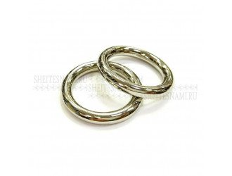 Кольцо метал. литое 30 мм СЕРЕБРО