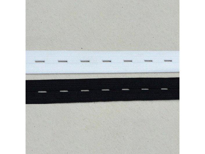 Резинка перфорированная белая 15 мм