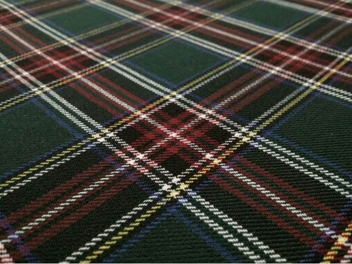 Шотландка костюмная стрейч