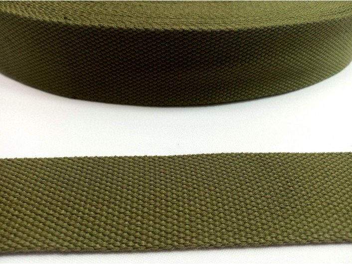 Стропа хаки 3,8 см искусственный хлопок 2 мм