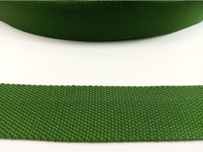 Стропа зеленая 3,8 см искусственный хлопок 2 мм